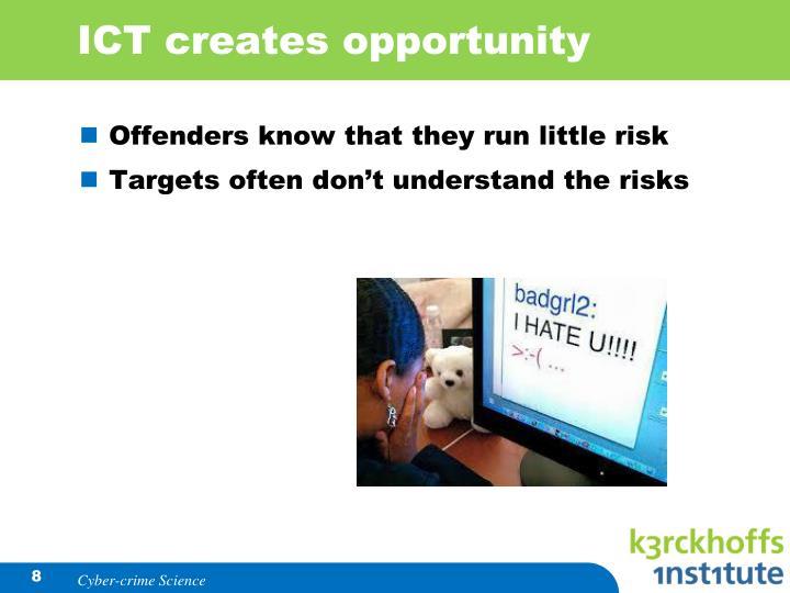 ICT creates opportunity