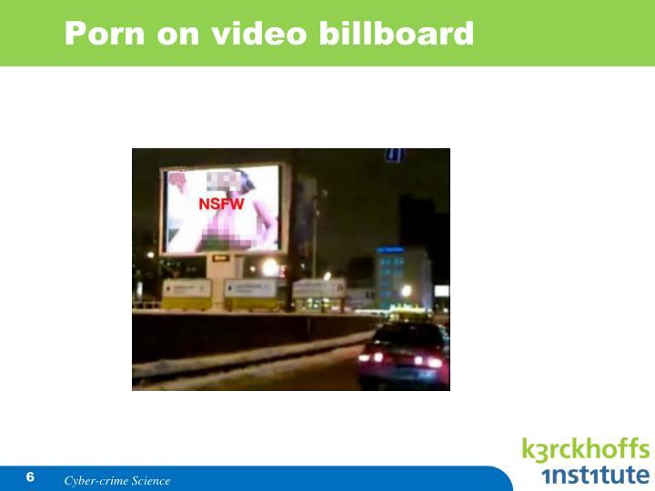 Porn on video billboard