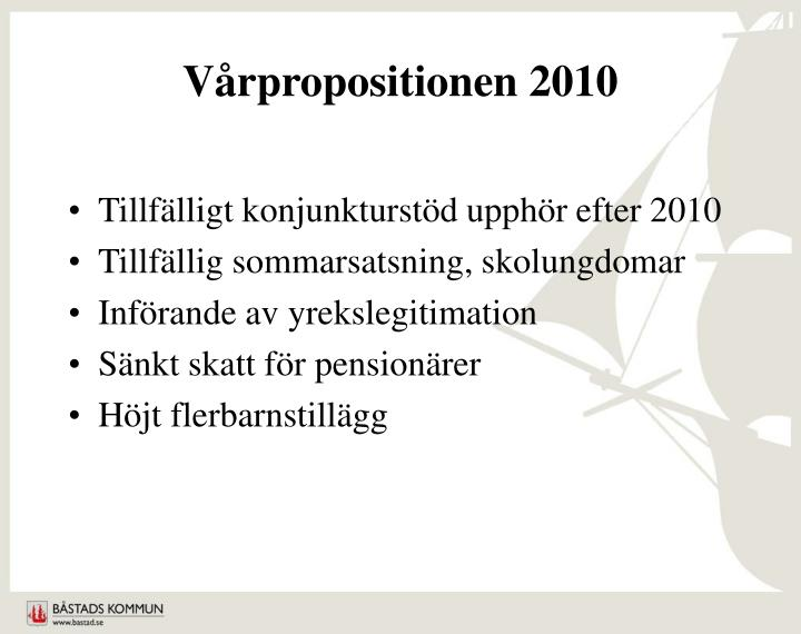 Vårpropositionen 2010