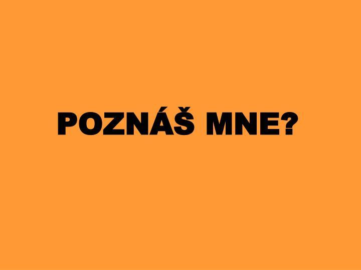 POZNÁŠ MNE?