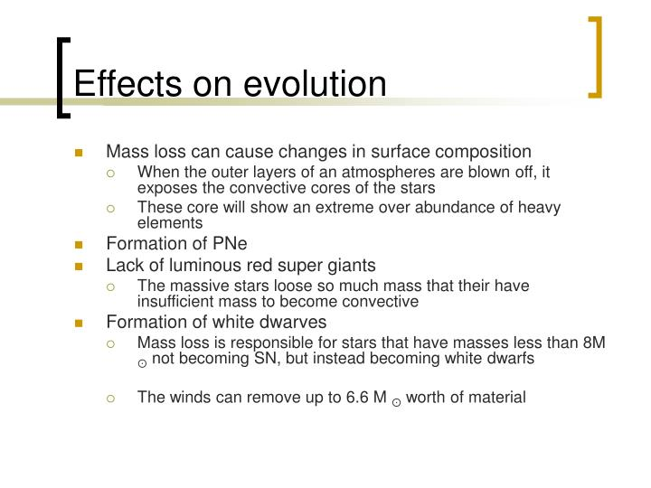 Effects on evolution