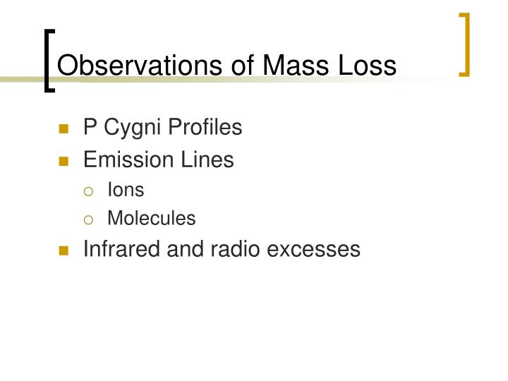 Observations of Mass Loss