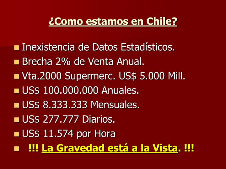 ¿Como estamos en Chile?