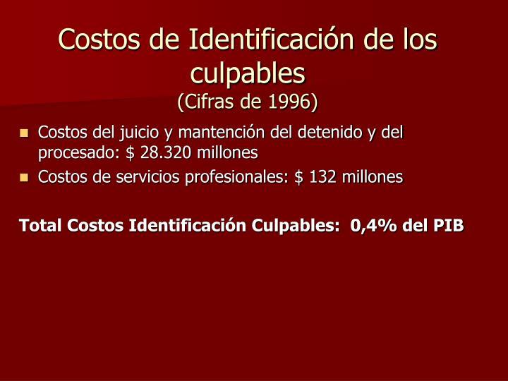 Costos de Identificación de los culpables