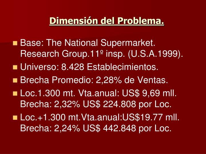 Dimensión del Problema.