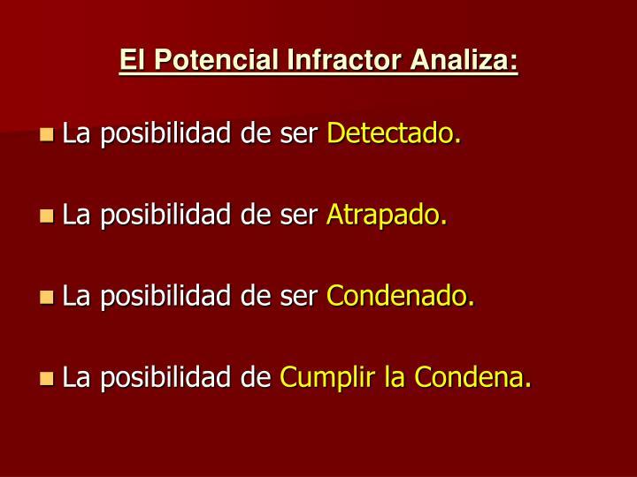 El Potencial Infractor Analiza: