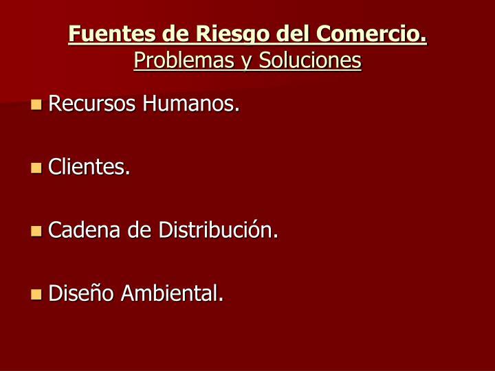 Fuentes de Riesgo del Comercio.