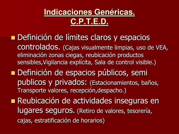 Indicaciones Genéricas.