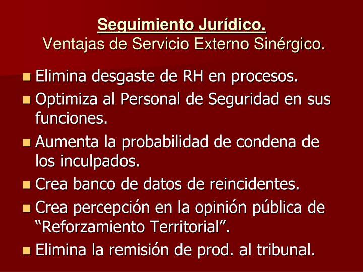 Seguimiento Jurídico.