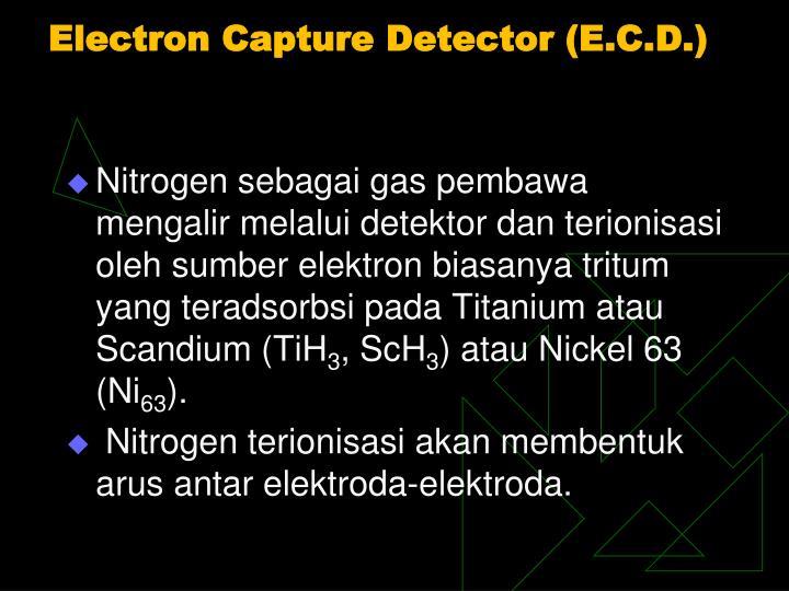 Electron Capture Detector (E.C.D.)