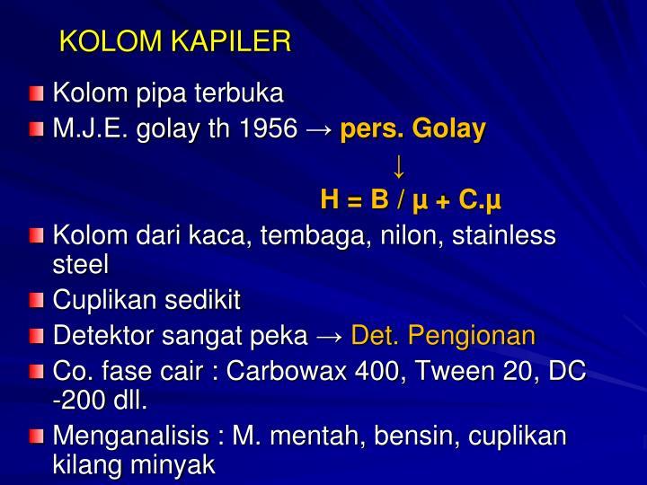 KOLOM KAPILER