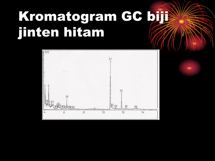 Kromatogram GC biji jinten hitam