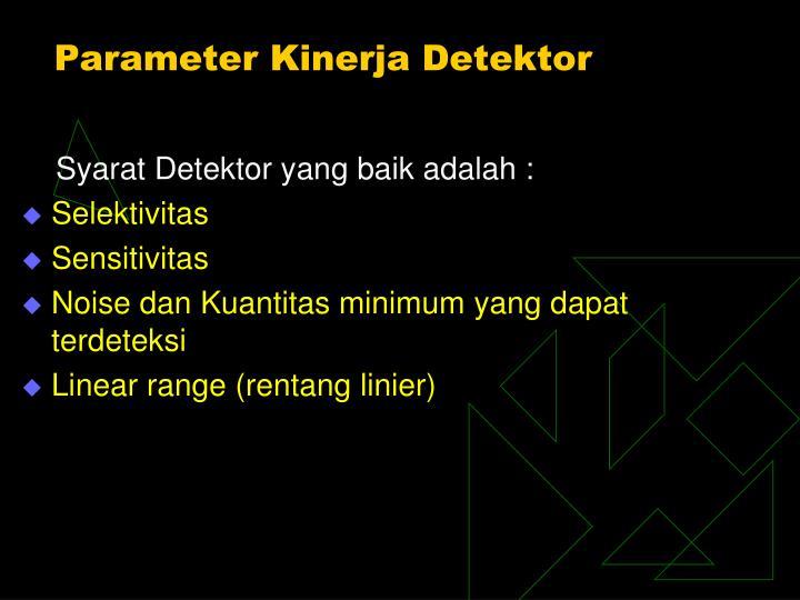 Parameter Kinerja Detektor