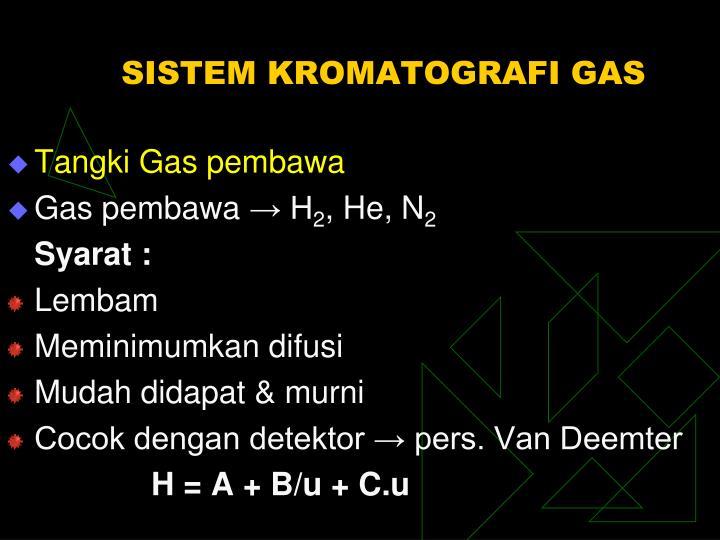 SISTEM KROMATOGRAFI GAS