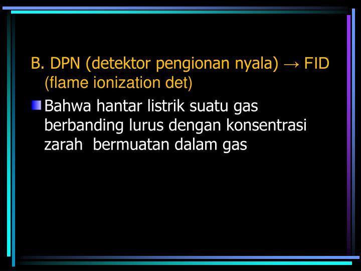 B. DPN (detektor pengionan nyala)