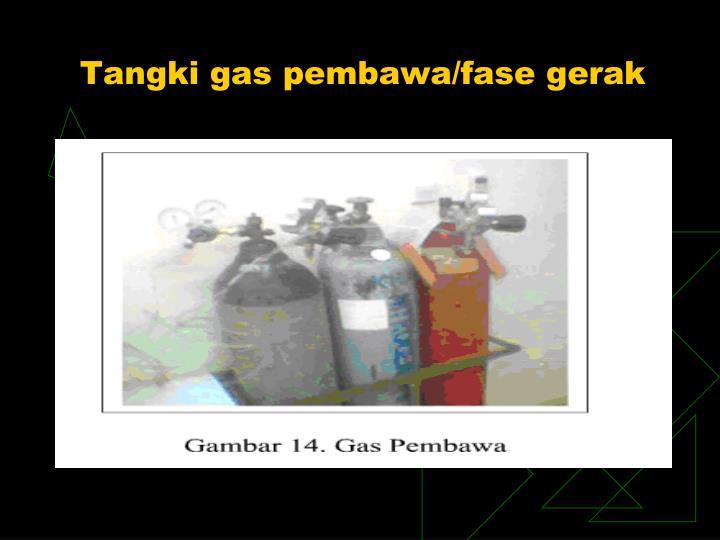 Tangki gas pembawa/fase gerak