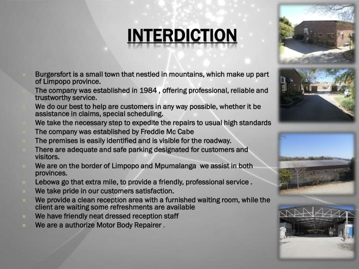 INTERDICTION