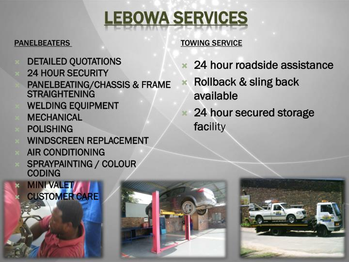 Lebowa services