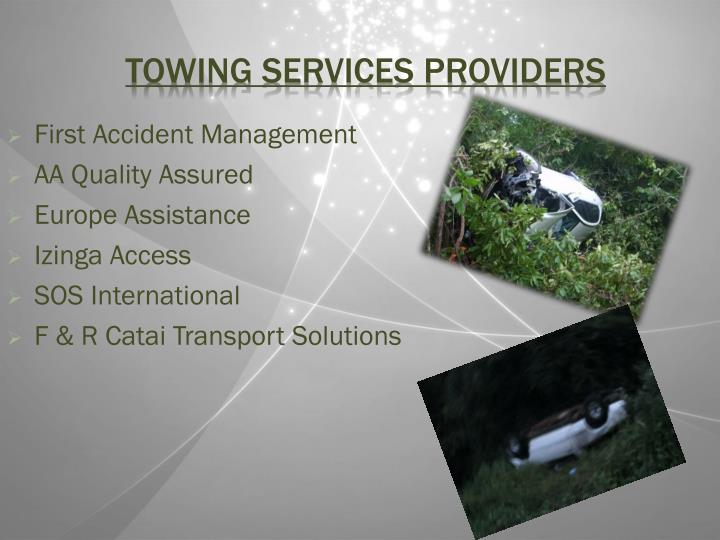 Towing services providers