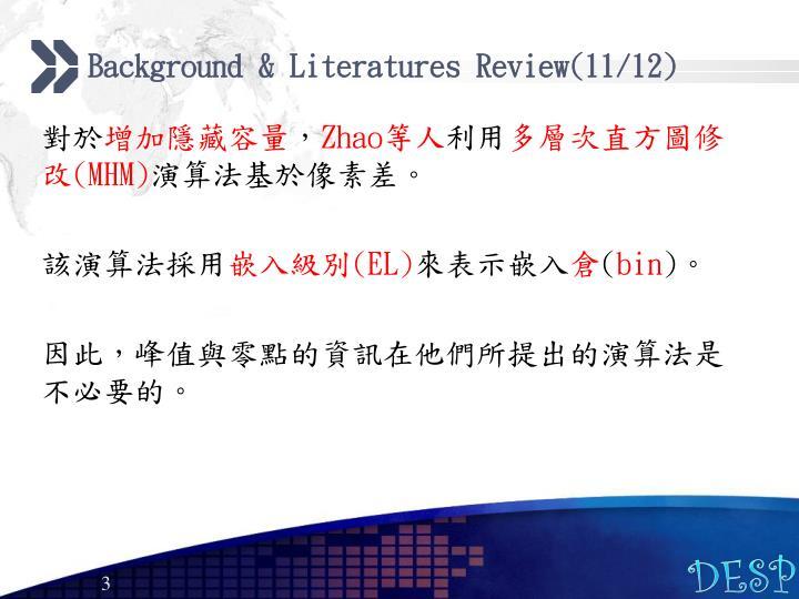 Background & Literatures