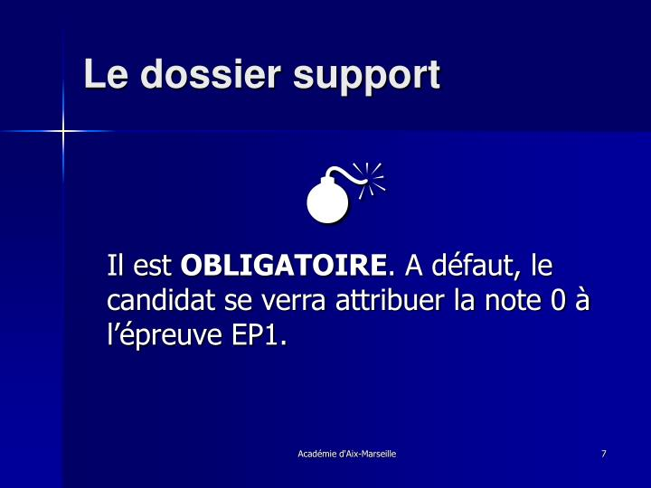 Le dossier support
