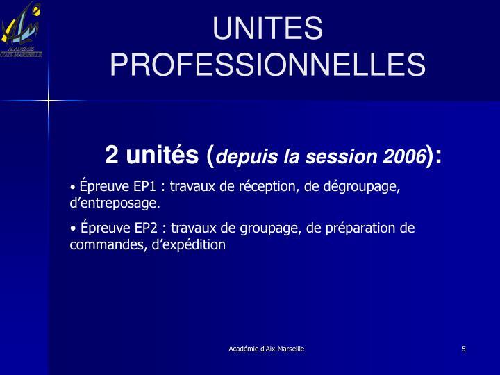 UNITES PROFESSIONNELLES