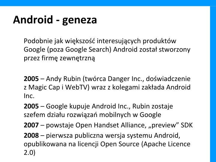 Android - geneza