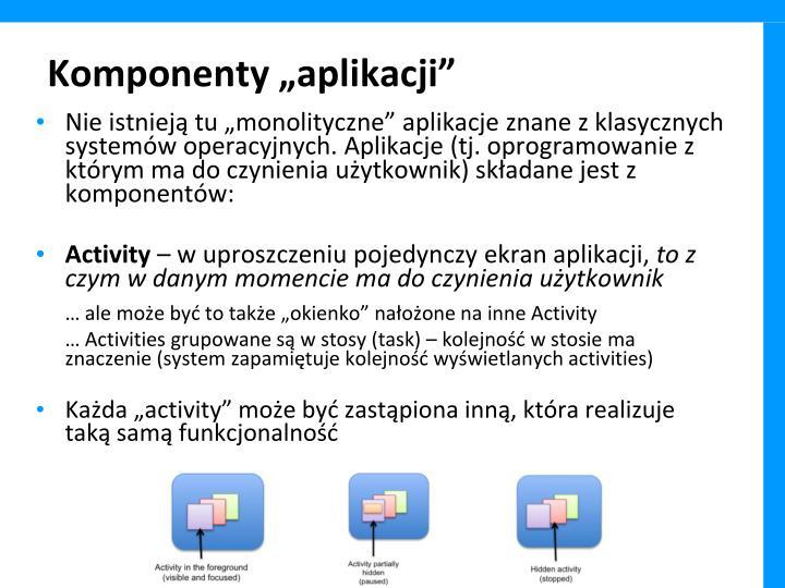 """Komponenty """"aplikacji"""""""