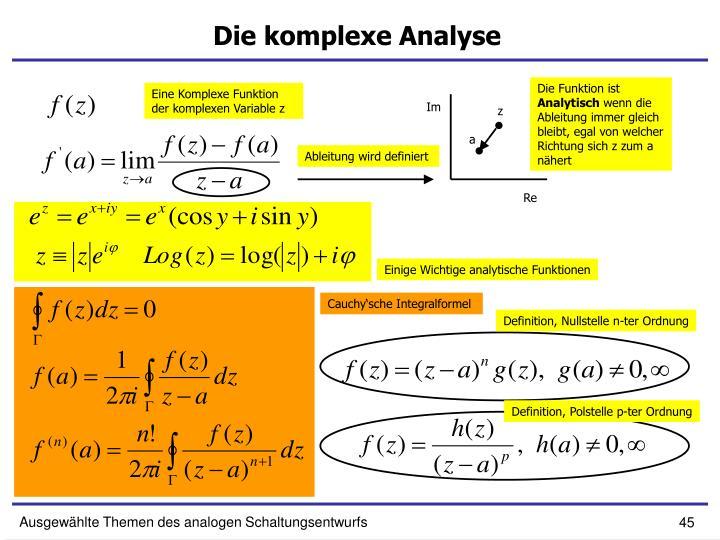 Die komplexe Analyse