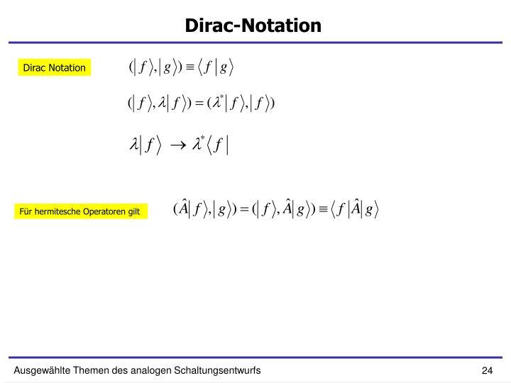 Dirac-Notation