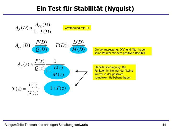 Ein Test für Stabilität (Nyquist)