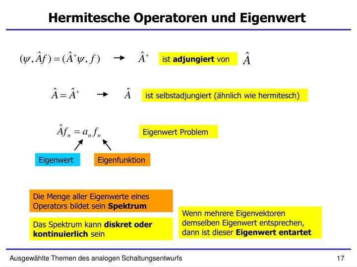 Hermitesche Operatoren und Eigenwert