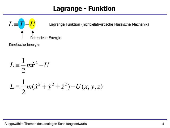Lagrange - Funktion