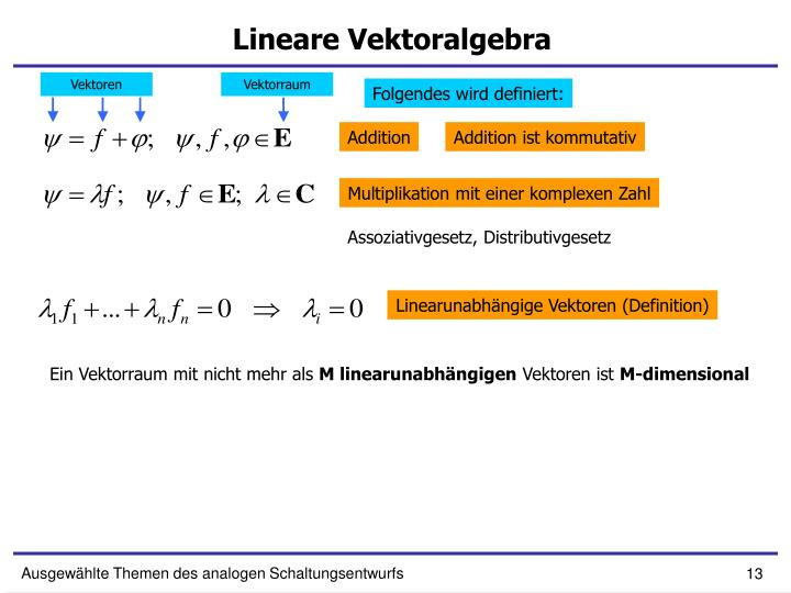 Lineare Vektoralgebra