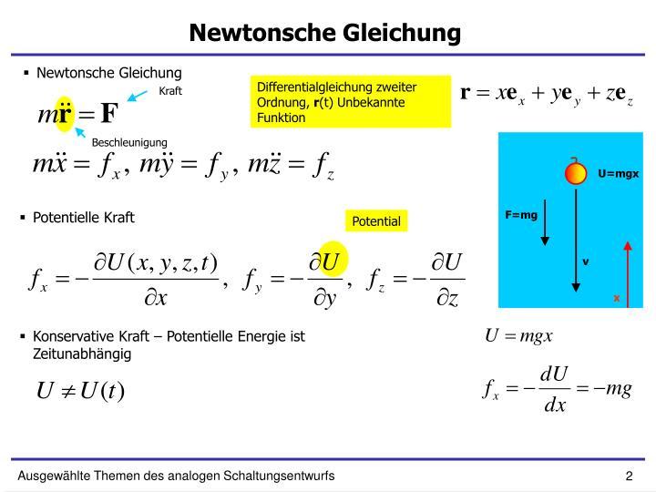 Newtonsche Gleichung