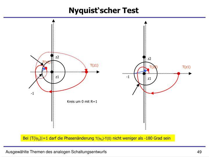Nyquist'scher Test