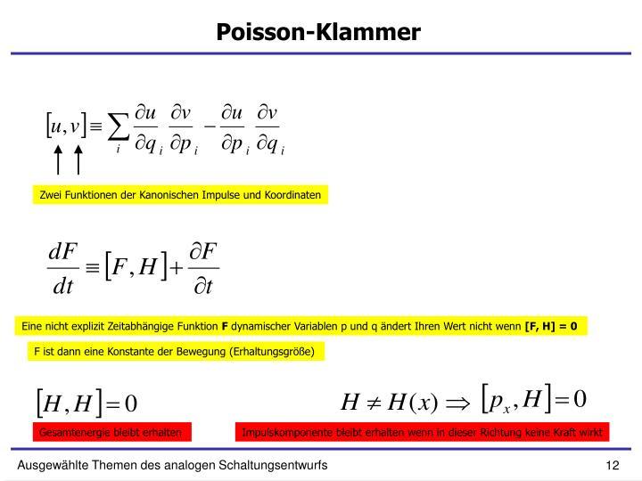 Poisson-Klammer