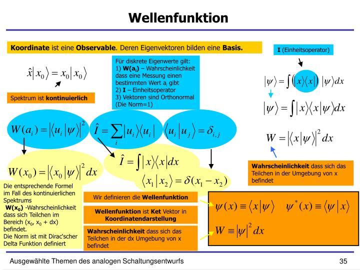 Wellenfunktion