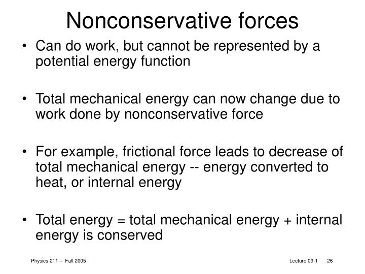 Nonconservative forces