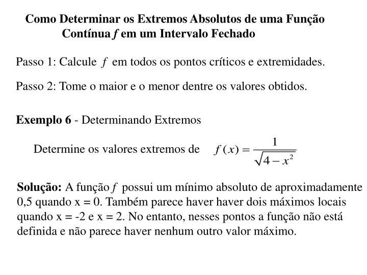 Passo 1: Calcule