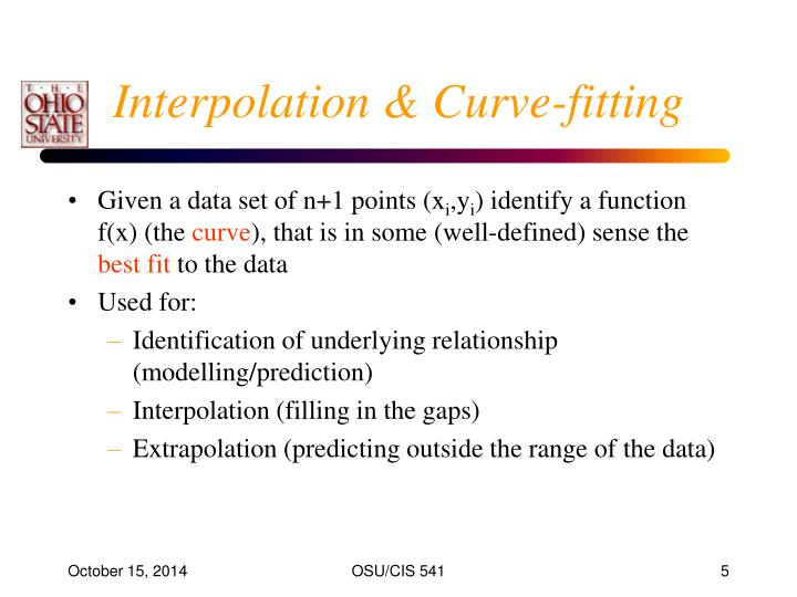 Interpolation & Curve-fitting