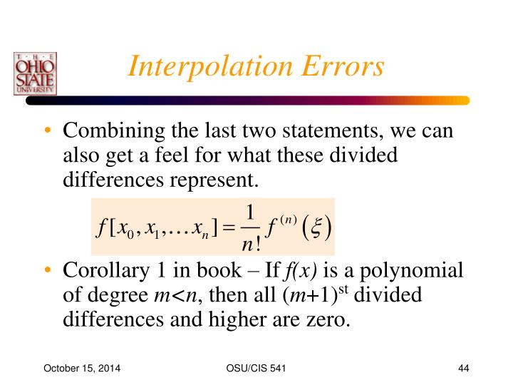 Interpolation Errors