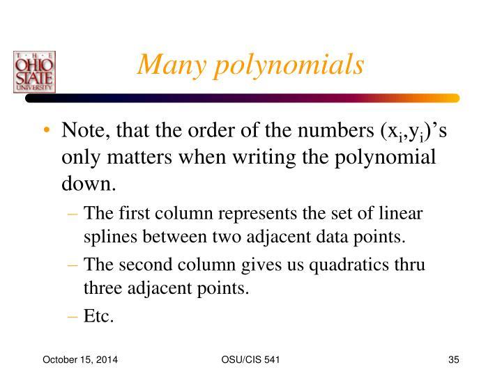 Many polynomials