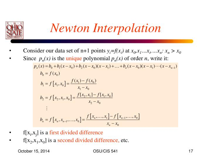 Newton Interpolation