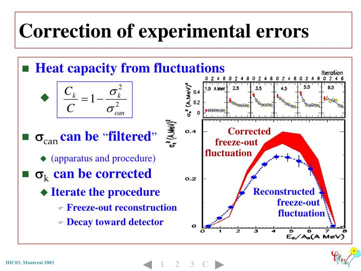 Correction of experimental errors