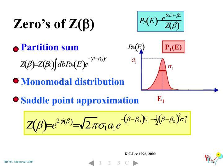 Zero's of Z