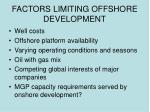 factors limiting offshore development
