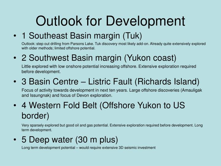 Outlook for Development