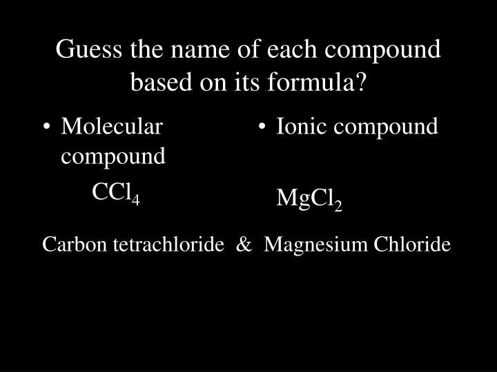 Molecular compound