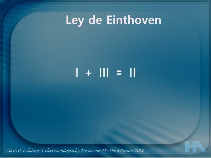 Ley de Einthoven